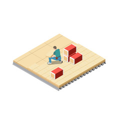 Roofing construction icon vector
