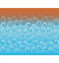 rough sea vector image
