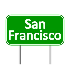 San Francisco green road sign vector