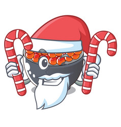 Santa with candy salmon roe with isolated on vector
