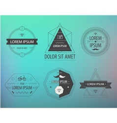 set hipster modern labels icons vector image