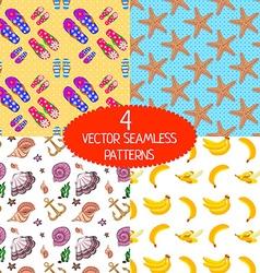 set summer patterns vector image