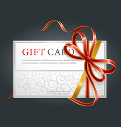 shopping offer gift card and holiday voucher vector image