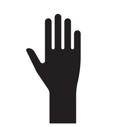 sign male hand black and white silhouette vector image