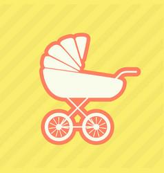 Silhouette of perambulator - baby carriage vector