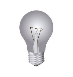 silver bulb icon image vector image