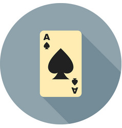 Spades card vector