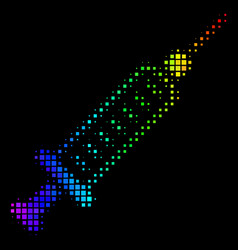 Spectral colored dot syringe icon vector
