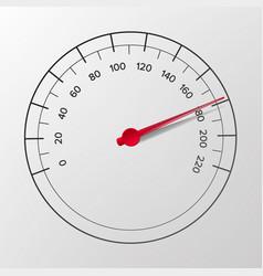 Speedometer abstract car panel vector