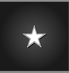 star icon flat vector image