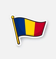 sticker flag chad vector image