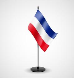 Table flag of yugoslavia vector
