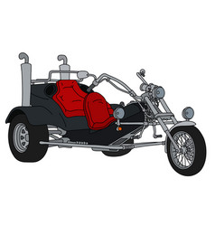The black motor tricycle vector