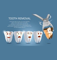 tooth removal concept poster banner vector image