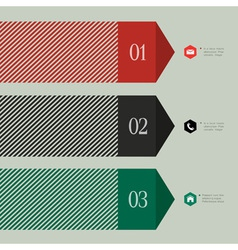 Trendy banner arrow design for infographics vector image