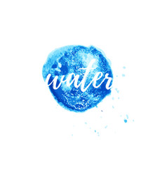 Water logo for corporate style wellness vector