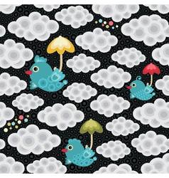 weather birds pattern vector image