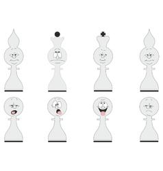 Cartoon chess set 02 vector image