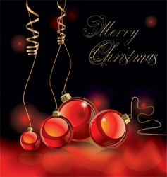 Christmas design black and red vector image vector image