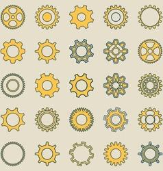 Gear wheel retro collection vector image
