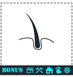 Hair icon flat vector image