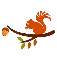 Squirrel on Tree vector image