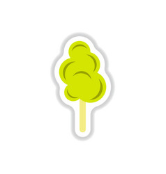 label icon on design sticker collection cotton vector image