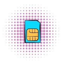 Sim card icon comics style vector image