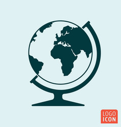 globe icon isoalted vector image