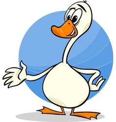 goose farm bird cartoon vector image vector image