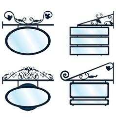 Retro Signboards vector image
