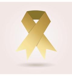 Single abstract golden awareness ribbon icon vector image vector image