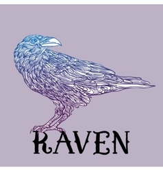 bird raven zentangle style Good for T-shirt bag vector image vector image