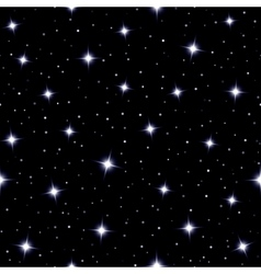 Celestial seamless background with sparkling stars vector image