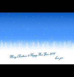 Christmas card love you vector image vector image