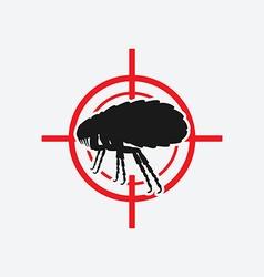 Flea icon red target vector
