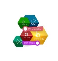 Geometric business infographics templates vector