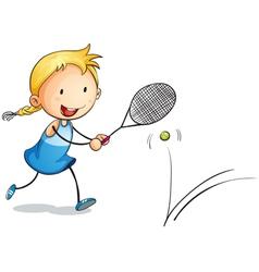 girl playing tennis vector image