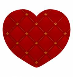 leather heart vector image vector image
