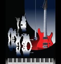 piano guitar jazz vector image