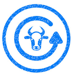 Refresh bull rounded grainy icon vector