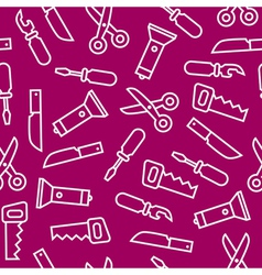 White flat swiss knife tools on purple back vector image vector image