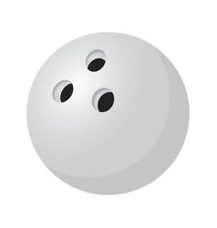 3d realistic silver bowling ballsport item vector image