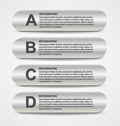 Abstract metal business options infographics vector