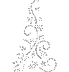 Abstract outline stencil design vector image
