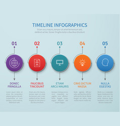 abstract timeline infographics with vector image