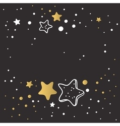 Abstract Xmas golden star background design vector