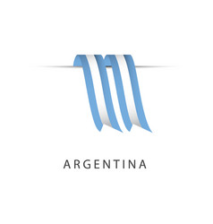 Argentina ribbon flag template design vector