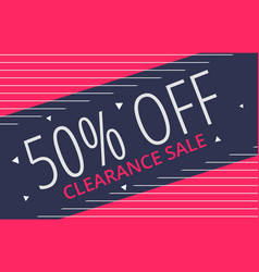 awesome creative sale voucher banner design vector image