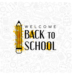 back to school conceptual background with welcome vector image